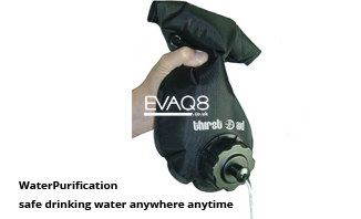 Not just Ration Packs and MRE food but also Water Purification | safe water anywhere anytime for drinking and food preparation | MRE food and Waterpurificatin from EVAQ8 the UK's Emergency Preparedness specialist
