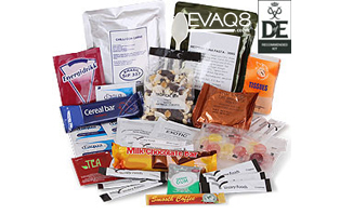 Day Ration Pack MRE Operations Food 3000 Kcal| genuine military style ration packs MRE 'meal-ready-to-eat' Food, nutritious, delicious and easy to use | MRE food from EVAQ8 the UK's Emergency Preparedness specialist