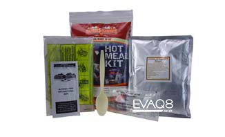 Hot Meal Kit 400g | rationpack > genuine military style MRE meal-ready-to-eat | MRE food from EVAQ8 the UK's Emergency Preparedness specialist