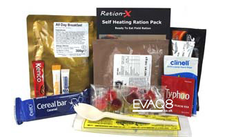 Ration-X MRE ration pack | genuine military style MRE 'meal-ready-to-eat' Food, nutritious, delicious and easy to use | MRE food from EVAQ8 the UK's Emergency Preparedness specialist